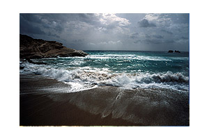 Karpathos in march - Beach of Mikri Amopi.