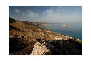The coastline of Karpathos