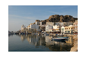 Sunset - the harbour of Pigadia - Karpathos