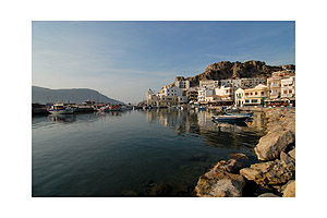 Harbour of Pigadia on the greek island Karpathos