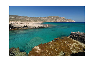 Bay in the southeast of Karpathos