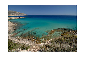The blue Aegean Sea around Karpathos