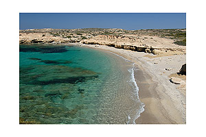 Crystal-clear water of the Mediterranean Sea - Karpathos