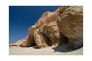 Limestone rocks in the south of Karpathos