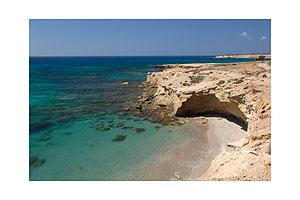 Coastline of the greek island Karpathos