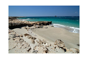 Sandy beach, Karpathos, Greece