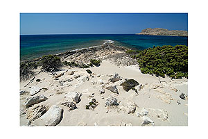 Sandy beach of  the island of Karpathos